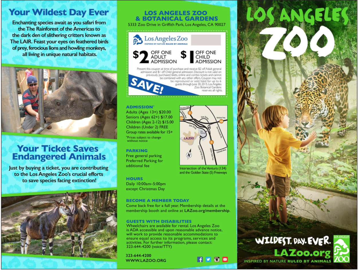 Los Angeles Zoo Brochure Creative Portfolio Rachel